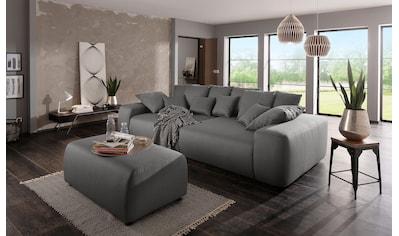 Home affaire Big-Sofa »Sundance«, mit vielen Kissen, Breite ca. 306 cm, Boxspring-Federung kaufen