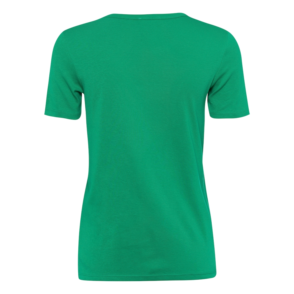 United Colors of Benetton T-Shirt, mit glitzerndem Label-Print vorn