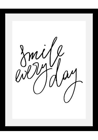 queence Bild »Smile«, in 3 Größen, gerahmt kaufen