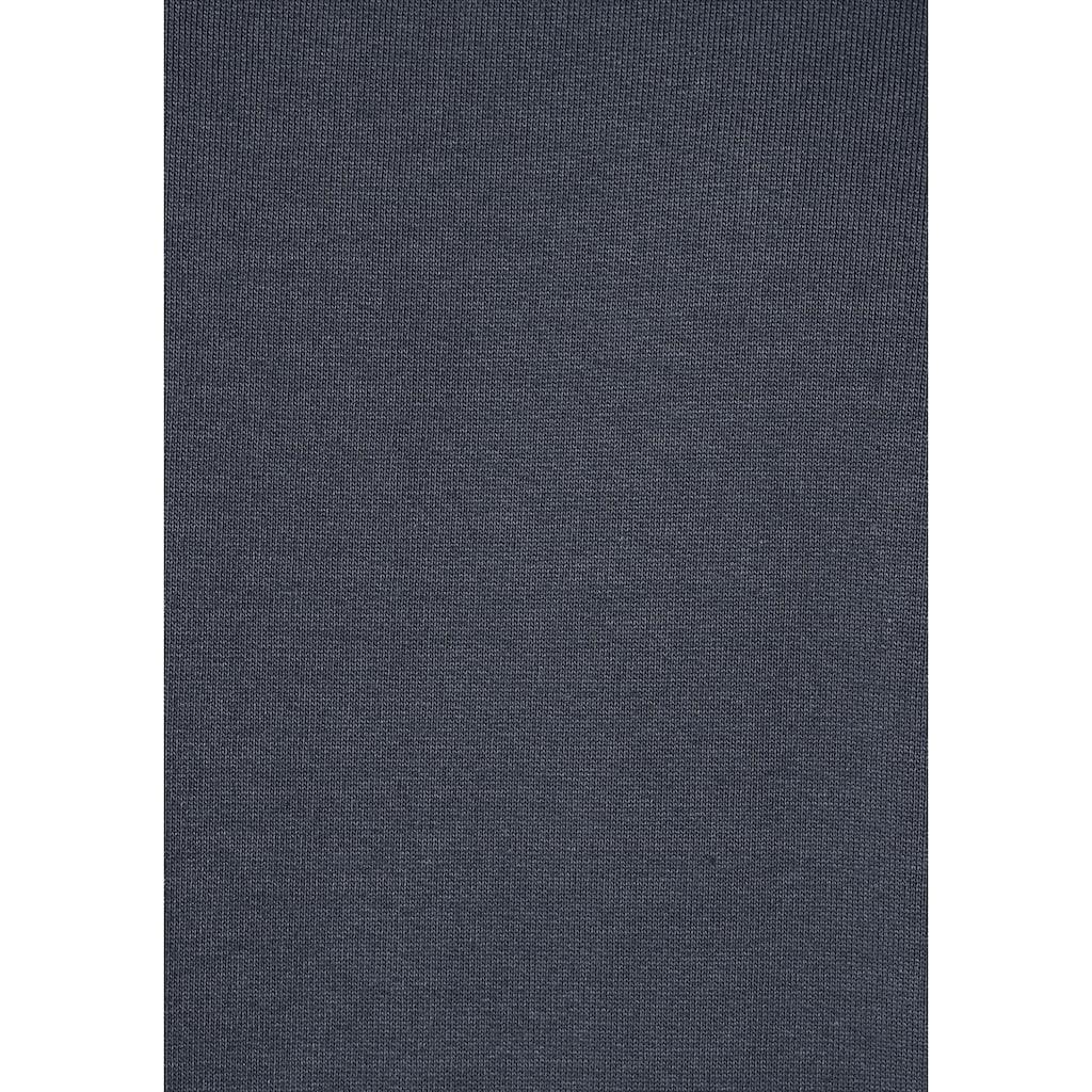 Man's World Kapuzensweatjacke, mit kontrastfarbigem Innenfutter