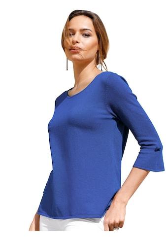 Pullover mit leicht transparenter Spitze hinten kaufen