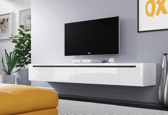 modernes weißes TV-Board