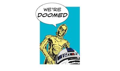 Komar Poster »Star Wars Classic Comic Quote Droids«, Star Wars kaufen