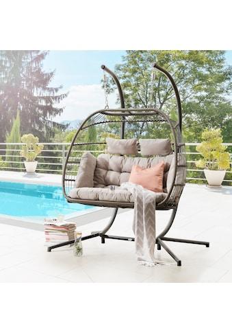 DESTINY Hängesessel »Coco Double Relax«, Polyrattan/Alu, inkl. Sitz -  und Rückenkissen kaufen
