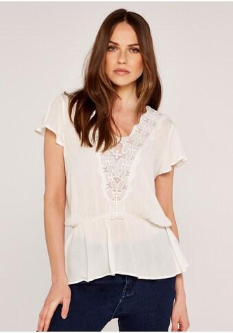 Apricot Shirtbluse »Crochet V Neckline Peplum Top«, mit Spitze kaufen