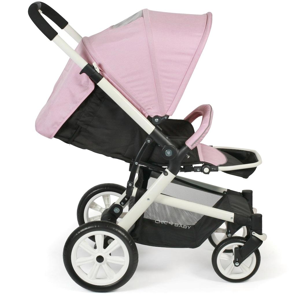 CHIC4BABY Sport-Kinderwagen »Boomer, rosa«, mit schwenk- und feststellbaren Vorderrädern
