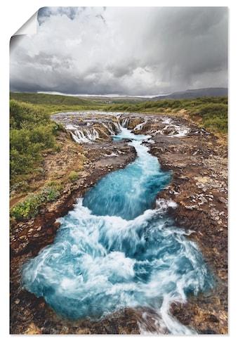 Artland Wandbild »Island Wasserfall tosendes Wasser« kaufen