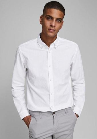 Jack & Jones Leinenhemd »SUMMER SHIRT«, mit Button-down-Kragen kaufen