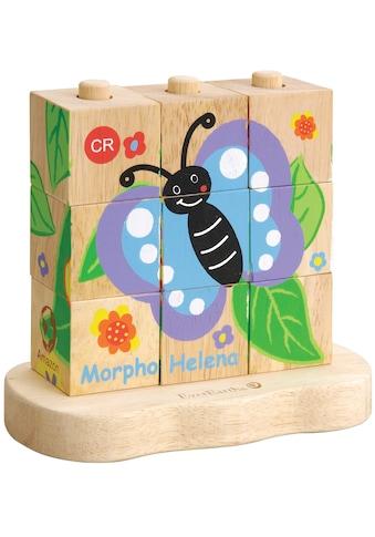 EverEarth® Würfelpuzzle »Raupe-Schmetterling«, (10 tlg.), FSC®-Holz aus gewissenhaft... kaufen