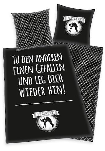 Wendebettwäsche »Pechkeks«, mit witzigem Schriftzug kaufen