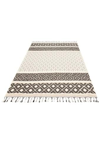 Home affaire Teppich »Arian«, rechteckig, 18 mm Höhe, mit Fransen, Wohnzimmer kaufen