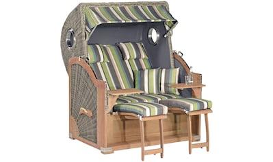 SUNNY SMART Strandkorb »Rustikal 500 Plus Comfort«, BxTxH: 140x95x160 cm, basalt grau kaufen