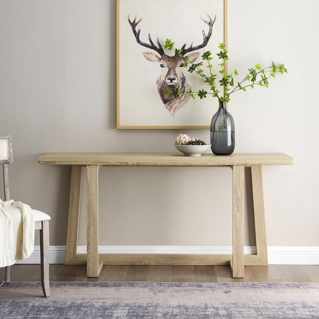 andas Konsolentisch »Sloan«, mit einem besonderen Beingestell, mit einer schönen Holzoptik Tischplatte, Design by Morten Georgsen