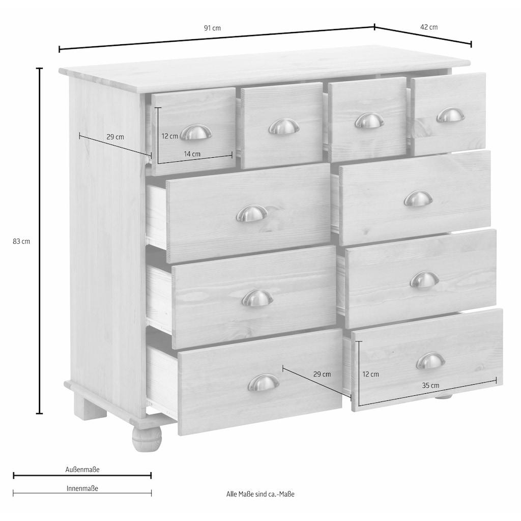 Home affaire Kommode »Anoushka«, wahlweise mit 5, 10, 12 oder 15 Schubladen