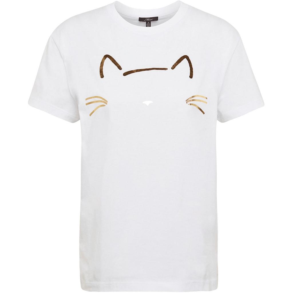 Mavi T-Shirt, mit Katzen Druck vorne