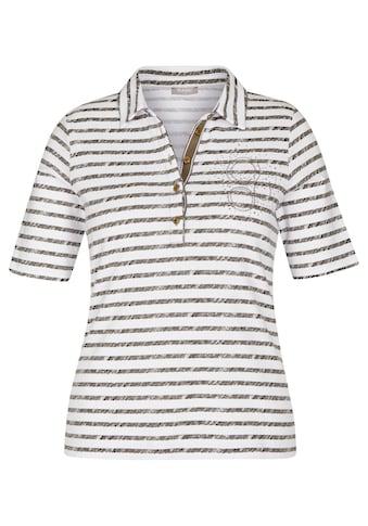 Rabe Kurzarmshirt, mit Strass-Steinen und Streifen kaufen