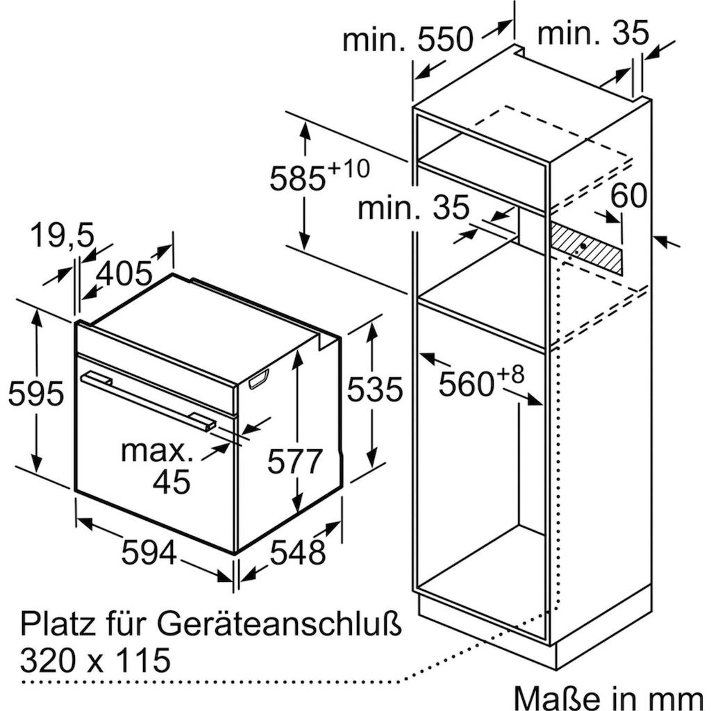 SIEMENS Dampfbackofen »HS658GXS7«, HS658GXS7, mit 3-fach-Teleskopauszug, ecoClean Plus