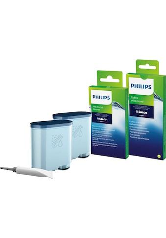 Saeco Pflegeset »CA6707/10«, (15 St., 2 x AquaClean Filter, 6 x Kaffeefettlöse-Tabletten, 6 x Milchkreislauf-Reiniger, Brühgruppenfett) kaufen