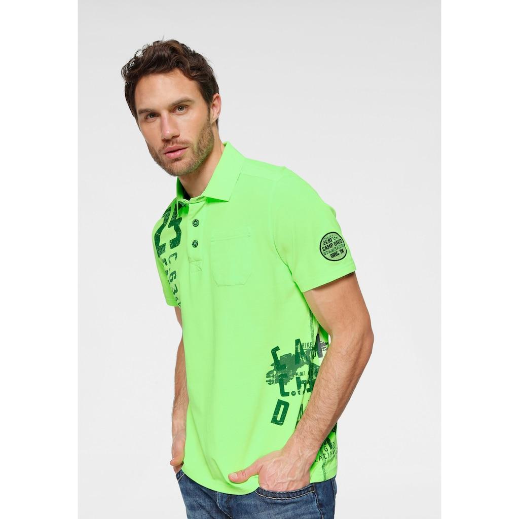 CAMP DAVID Poloshirt, mit Brusttasche