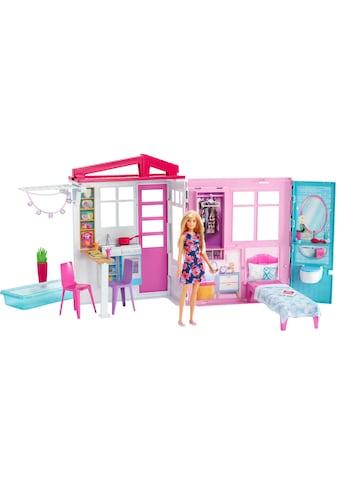 Barbie Puppenhaus »Ferienhaus«, mit Möbeln und Puppe kaufen