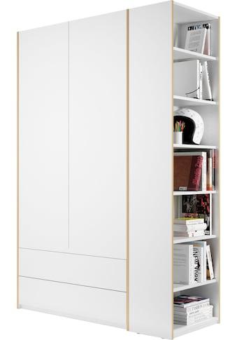 Müller SMALL LIVING Kleiderschrank »Modular Plus Variante 1«, inklusive 2 geräumigen Schubladen, Anbauregal wahlweise links oder rechts montierbar kaufen