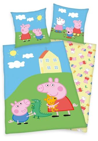 Kinderbettwäsche »Peppa Pig / Peppa Wutz«, mit fröhlichem Peppa Pig-Motiv kaufen