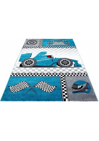 Ayyildiz Kinderteppich »Kids 460«, rechteckig, 12 mm Höhe, Kurzflor, Motiv Rennwagen kaufen