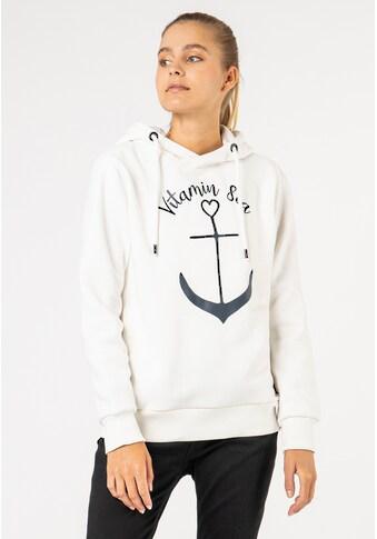 SUBLEVEL Kapuzensweatshirt, mit Anker-Print kaufen