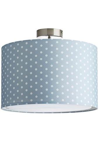 Lüttenhütt Deckenleuchte »Prick«, E27, Deckenlampe mit Punkte - Stoffschirm Ø 40 cm, grau / weiß gepunktet, Höhe 32 cm kaufen