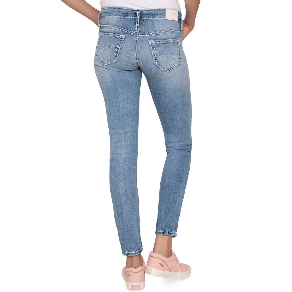 SOCCX Slim-fit-Jeans »KA:RA«, mit modischem Doppel-Bund Verschluss
