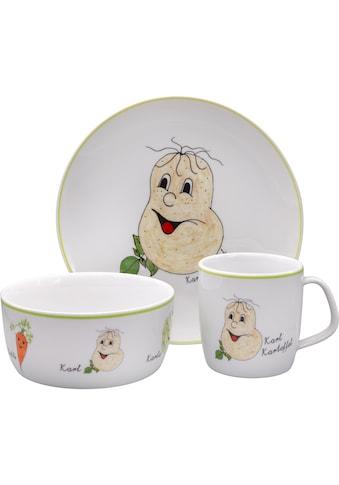 """Eschenbach Kindergeschirr - Set """"Gesunde Freunde Kartoffel"""" (3 - tlg.), Porzellan kaufen"""