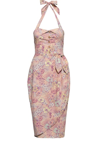 QueenKerosin Sommerkleid, in Wickel-Optik und mit tropischem All-Over-Muster kaufen