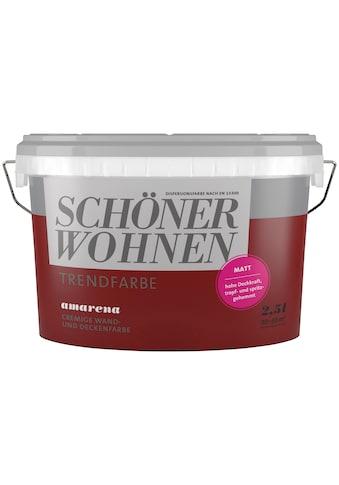 SCHÖNER WOHNEN-Kollektion Wand- und Deckenfarbe »Trendfarbe Amarena, matt«, 2,5 l kaufen