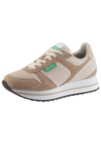 United Colors of Benetton Plateausneaker »JOY MIX«, im Materialmix kaufen