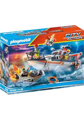 Playmobil® Konstruktions-Spielset »Seenot: Löscheinsatz mit Rettungskreuzer (70140),... kaufen