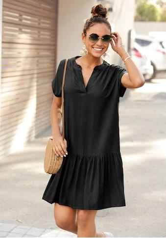 s.Oliver Beachwear Blusenkleid, mit Volant am Rock kaufen