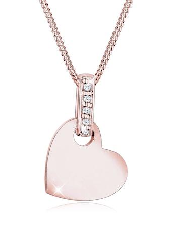 Diamore Collierkettchen »Herz Liebe Diamant (0.025 ct.) 925 Silber« kaufen
