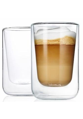 BLOMUS Thermoglas »NERO«, (Set, 2 tlg.), Doppelwandig, Inhalt 250 ml kaufen