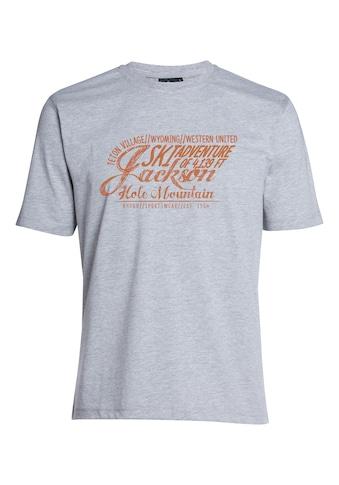 AHORN SPORTSWEAR T-Shirt »JACKSON ADVENTURE_ROOIBOS«, mit stylischem Frontprint kaufen