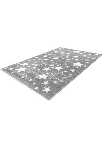 LALEE Kinderteppich »Amigo 329«, rechteckig, 15 mm Höhe, Sterne im Konturenschnitt kaufen