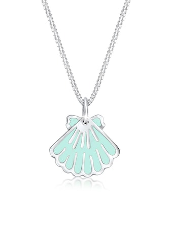 Elli Kette mit Anhänger »Kinder Muschel Meer Mermaid Emaille 925 Silber« kaufen
