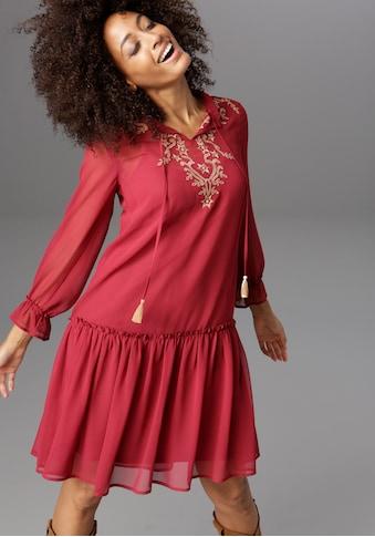 Aniston CASUAL Blusenkleid, mit aufwändig besticktem Vorderteil kaufen