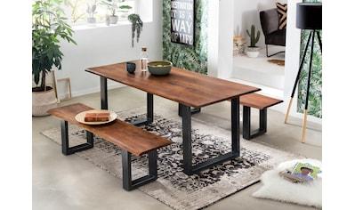 SIT Bank »Tables&Tops«, aus massiver Akazie, mit schwarzem Metallgestell kaufen