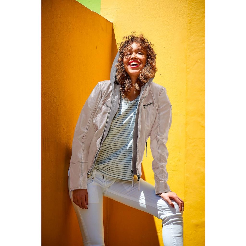 Gipsy Lederjacke »Nola«, Two-in-One Style - mit abnehmbarer Kapuze