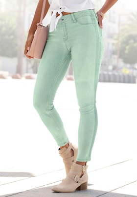 grüne Skinny-Jeans