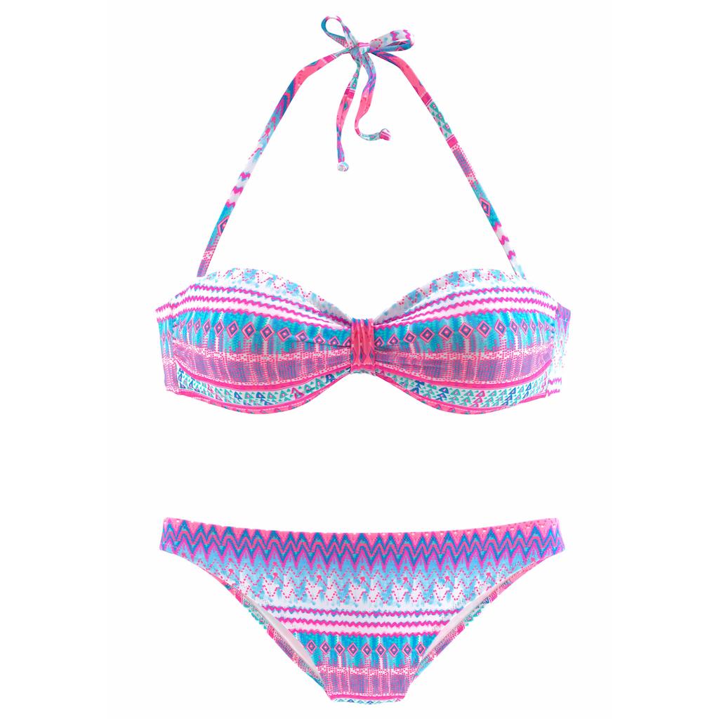 Bench. Bandeau-Bikini, mit geraffter Mitte