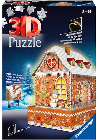 Ravensburger 3D-Puzzle »Lebkuchenhaus bei Nacht«, inkl. LED-Beleuchtung; Made in... kaufen
