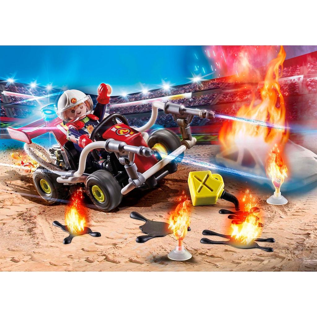 Playmobil® Konstruktions-Spielset »Feuerwehrkart (70554), Stuntshow«, (47 St.)
