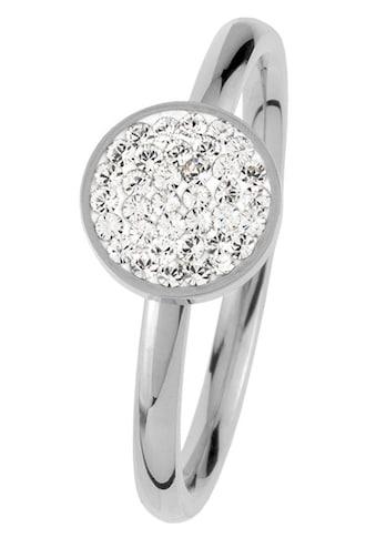 Jacques Lemans Fingerring »S-R80A52,54,56,58«, mit Kristallstein kaufen