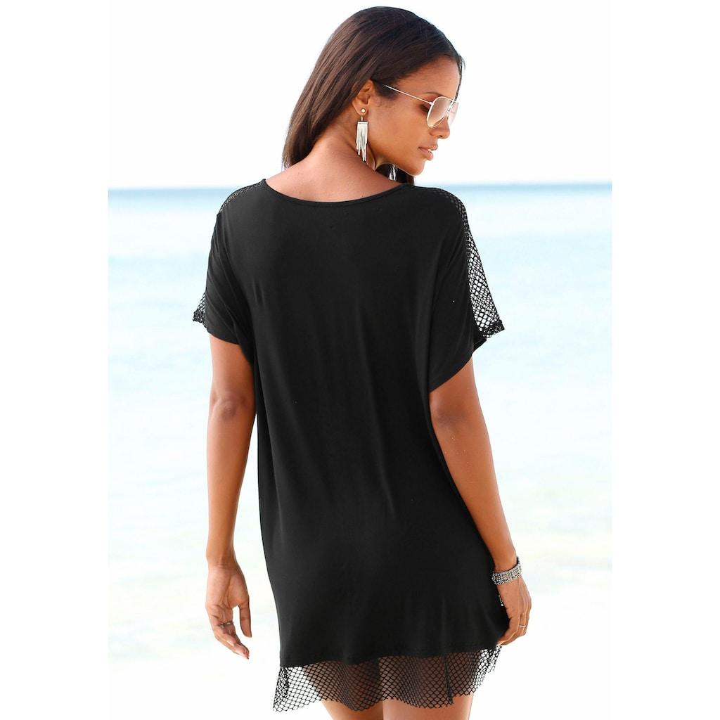 s.Oliver Beachwear Longshirt, mit Mesheinsätzen